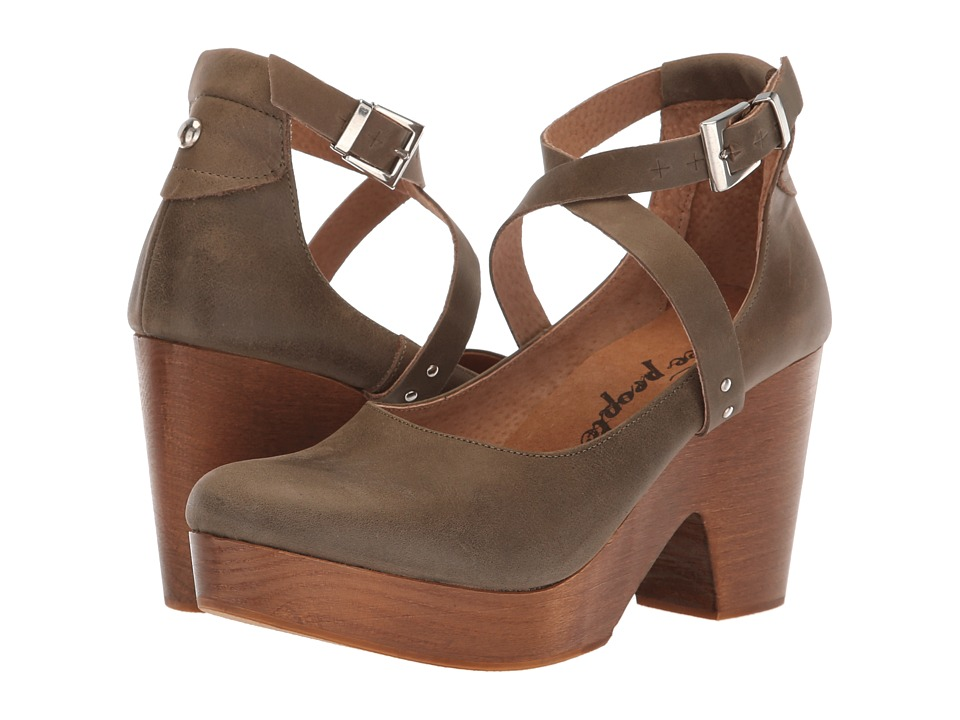 Free People Buena Vista Clog (Khaki) Clogs