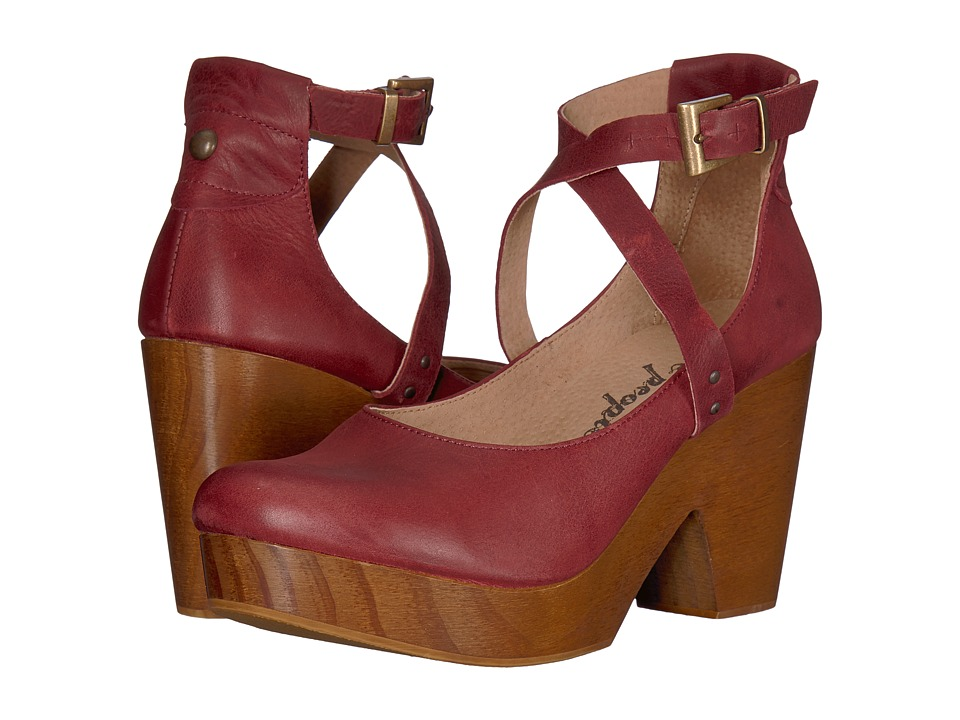 Free People Buena Vista Clog (Wine) Clogs