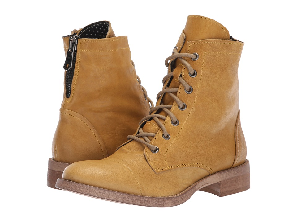 Free People Portland Lace-Up Boot (Yellow) Women's Lace-up Boots