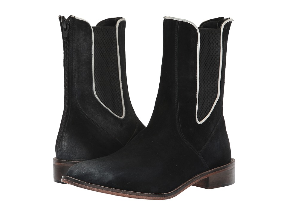 Free People Blackburn Chelsea Boot (Black Combo) Women's Pull-on Boots