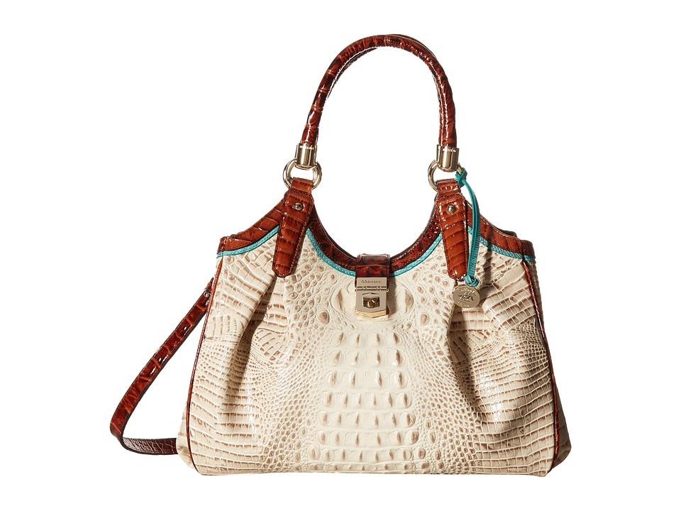 Brahmin - Elisa (Vanilla) Satchel Handbags