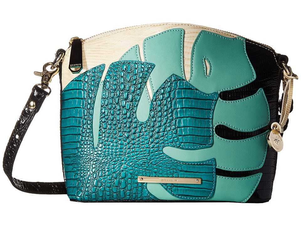 Brahmin - Mini Duxbury (Turquoise) Cross Body Handbags
