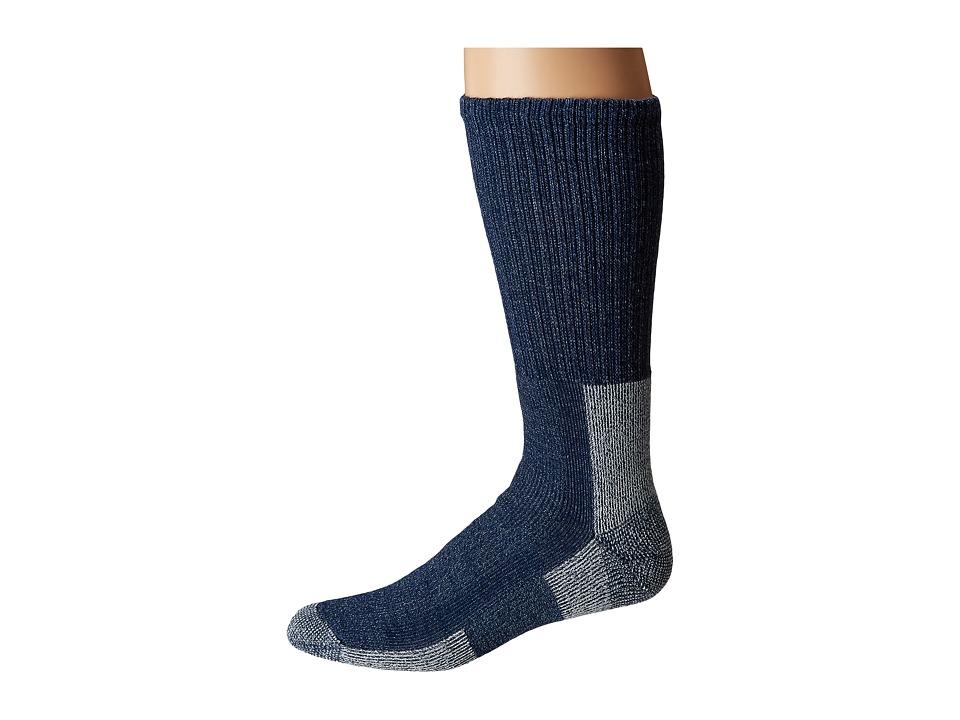 Thorlos - Wool Blend Light Hiking Crew Single Pair (Navy Heather) Mens Crew Cut Socks Shoes