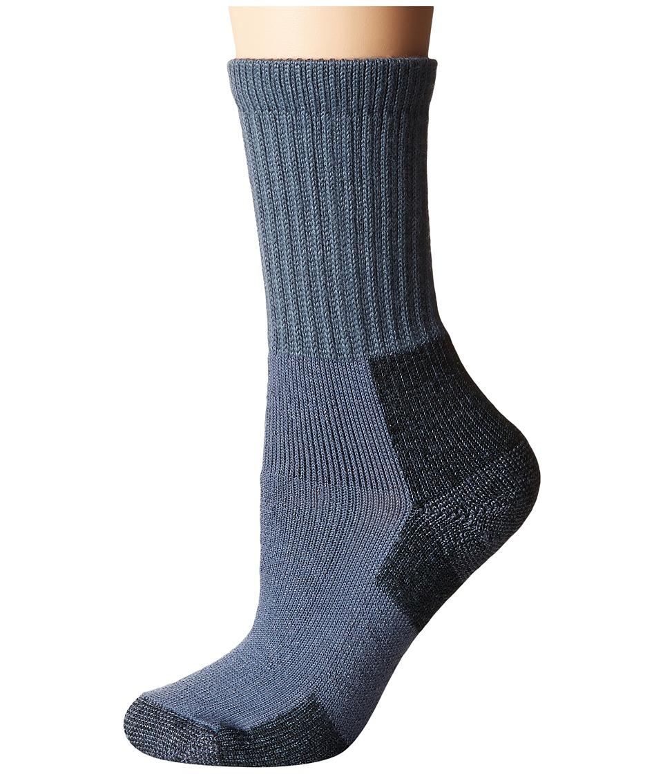 Thorlos - Hiking Crew Single Pair (Slate Blue) Womens Crew Cut Socks Shoes