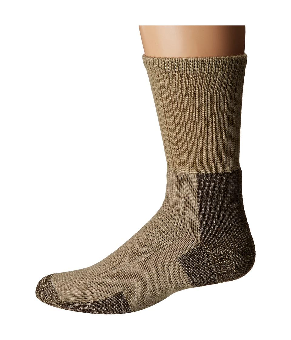 Thorlos - Hiking Crew Single Pair (Khaki) Crew Cut Socks Shoes