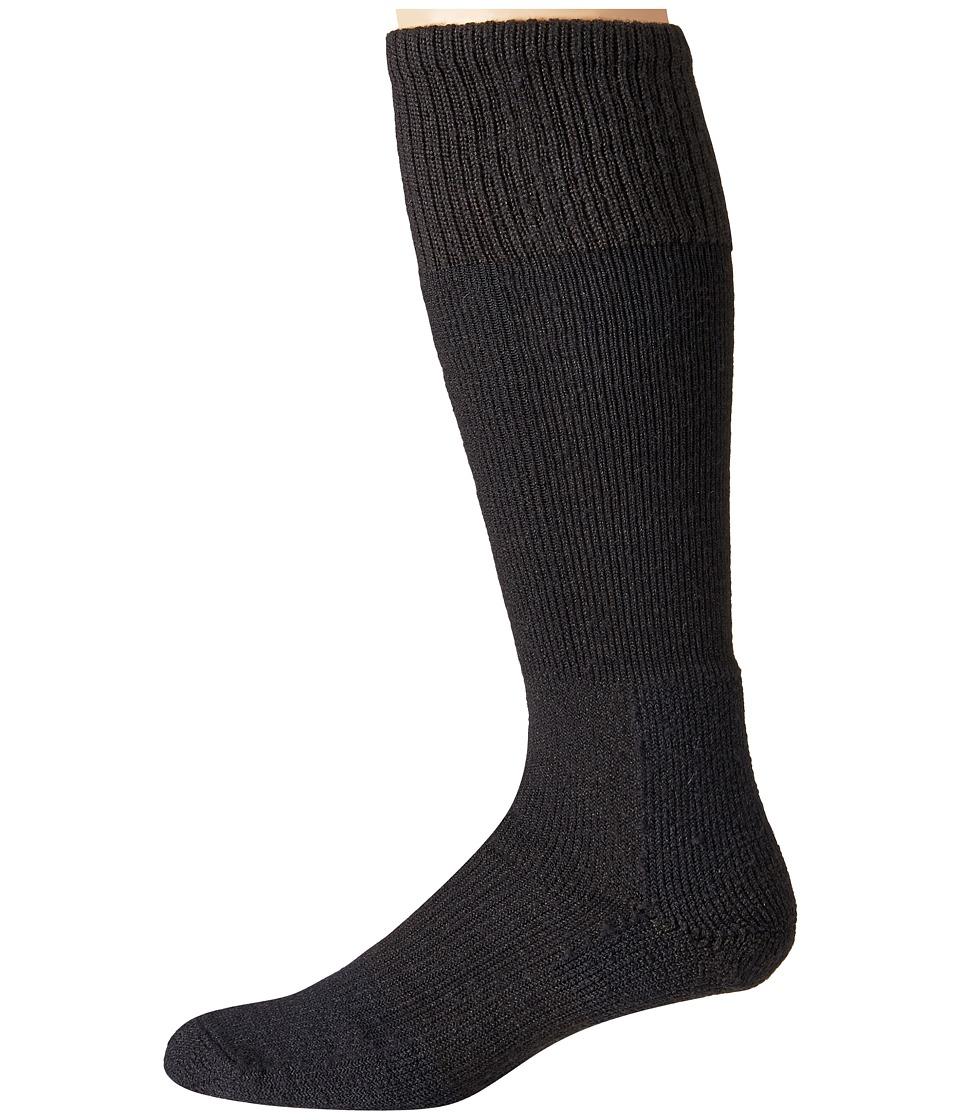 Thorlos - Extreme Cold Over Calf Single Pair (Black) Crew Cut Socks Shoes