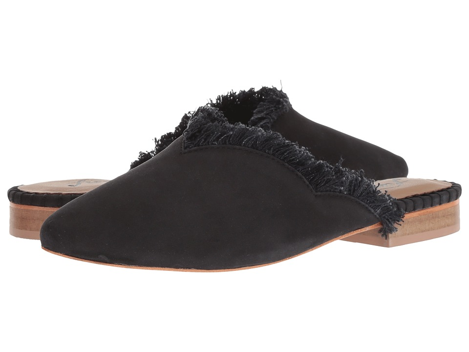 Free People Leather Newport Flat (Black) Slip-On Shoes