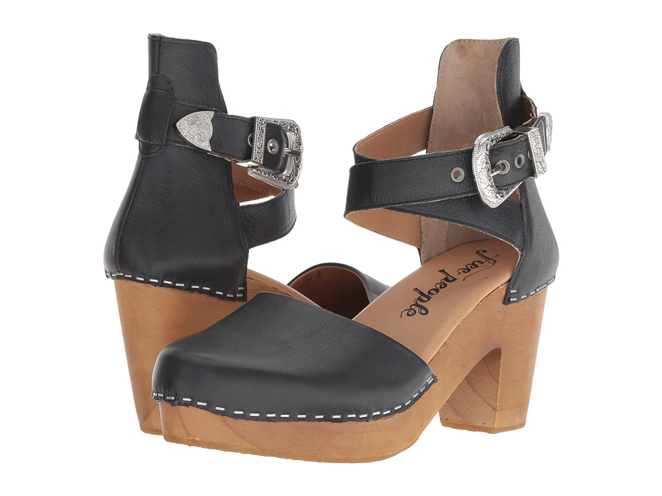 Free People Andorra Clog (Black) High Heels