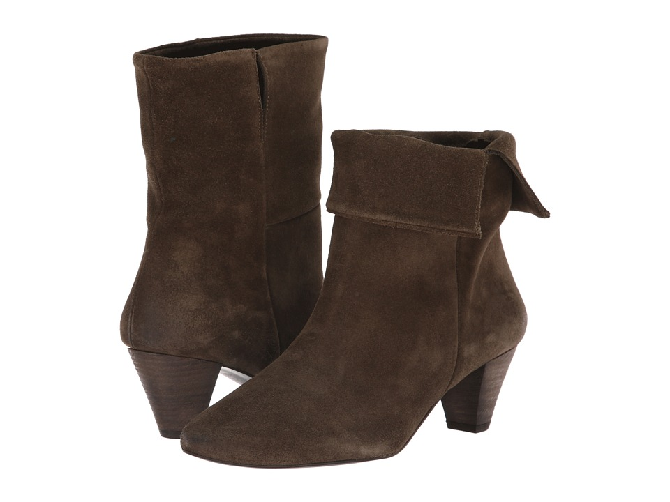Free People Adella Heel Boot (Khaki) Women's Pull-on Boots