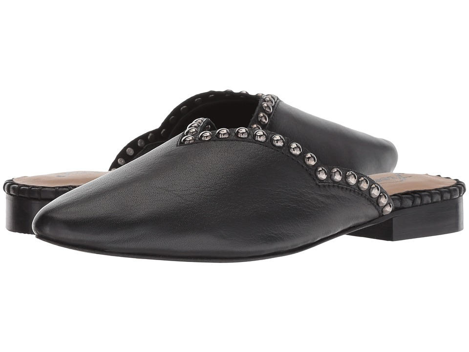 Free People Studded Newport Flat (Black) Slip-On Shoes
