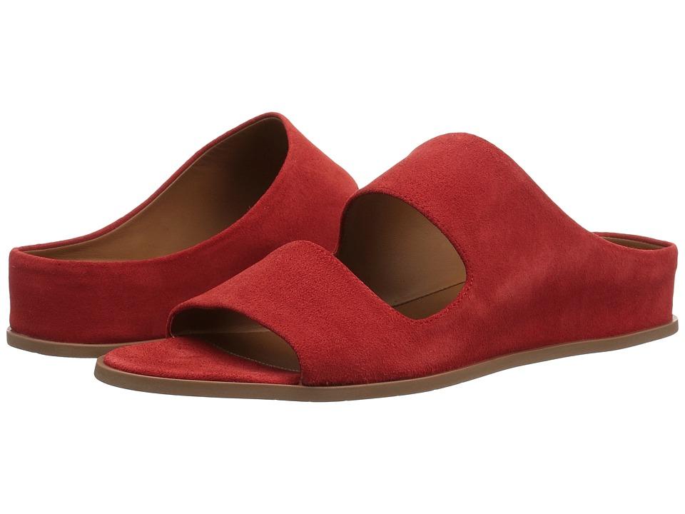 Aquatalia Abbey Slide (Red Suede) Women