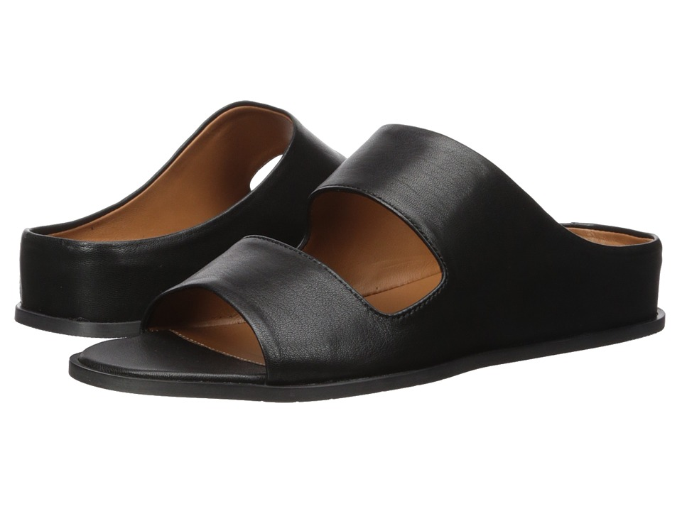 Aquatalia Abbey Slide (Black Soft Nappa) Wedges
