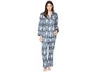BedHead BedHead Navy Paisley Long Sleeve Long Pajamas