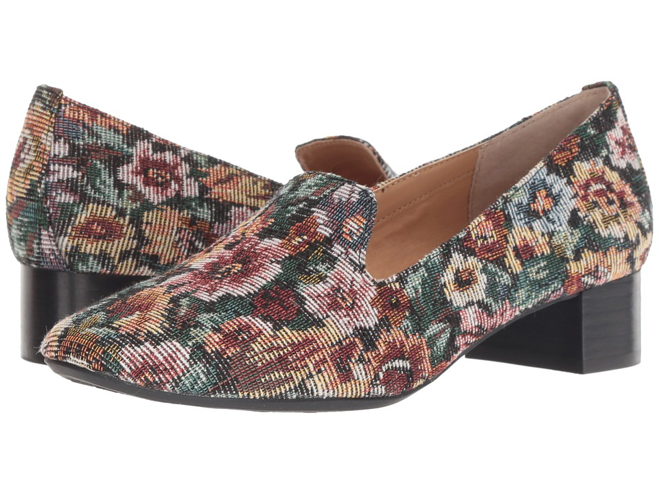 Me Too Gwen (Wine Floral Tapestry) 1-2 inch heel Shoes
