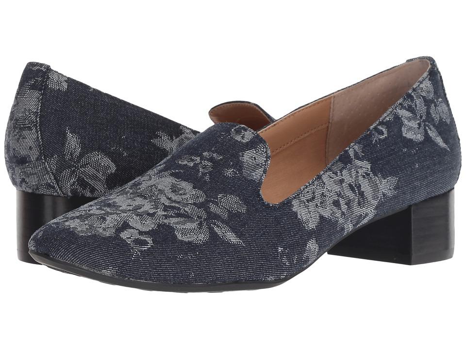 Me Too Gwen (Navy Floral Denim) 1-2 inch heel Shoes