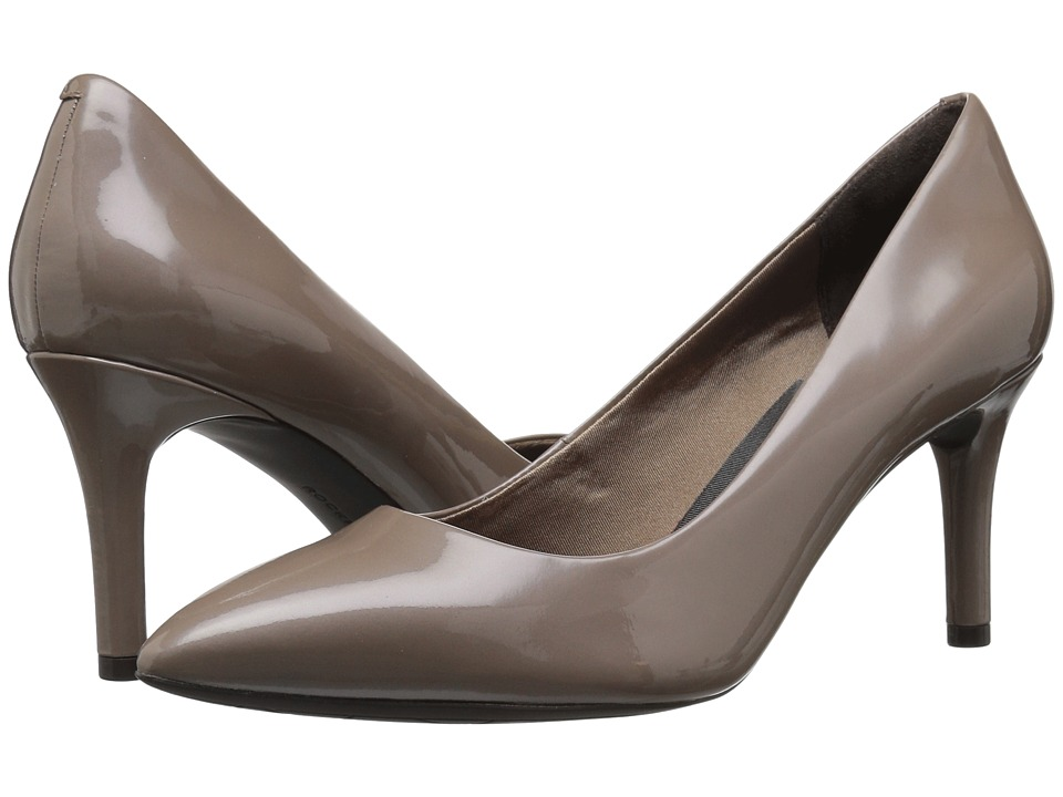 Rockport Plain Pump (Taupe Grey Pearl Patent) Women's Shoes