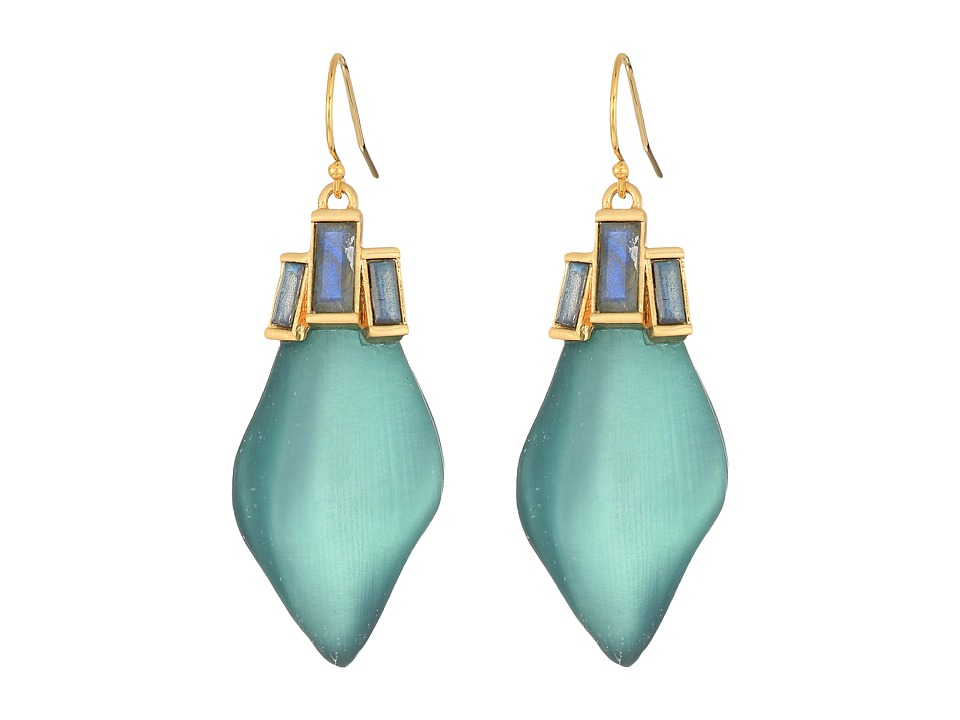 Alexis Bittar - Dancing Baguette Drop Earrings (Teal Blue) Earring