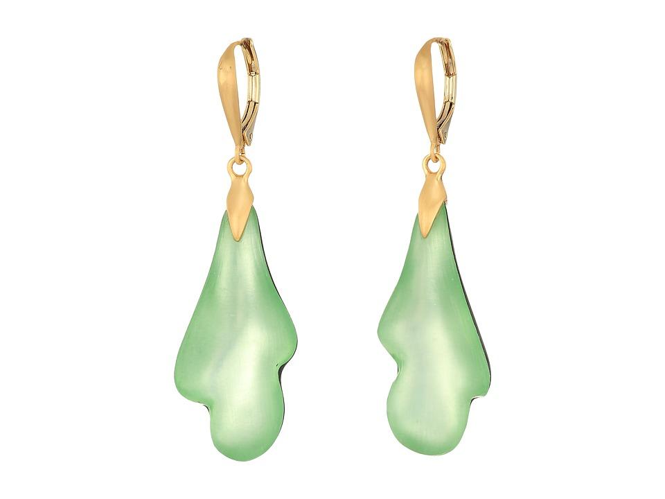 Alexis Bittar - Abstract Lever Back Earrings (Seafoam) Earring