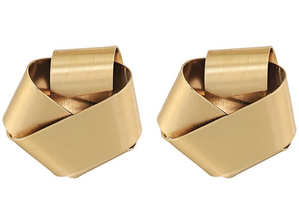 Alexis Bittar - Folded Knot Post Earrings (10K Gold) Earring