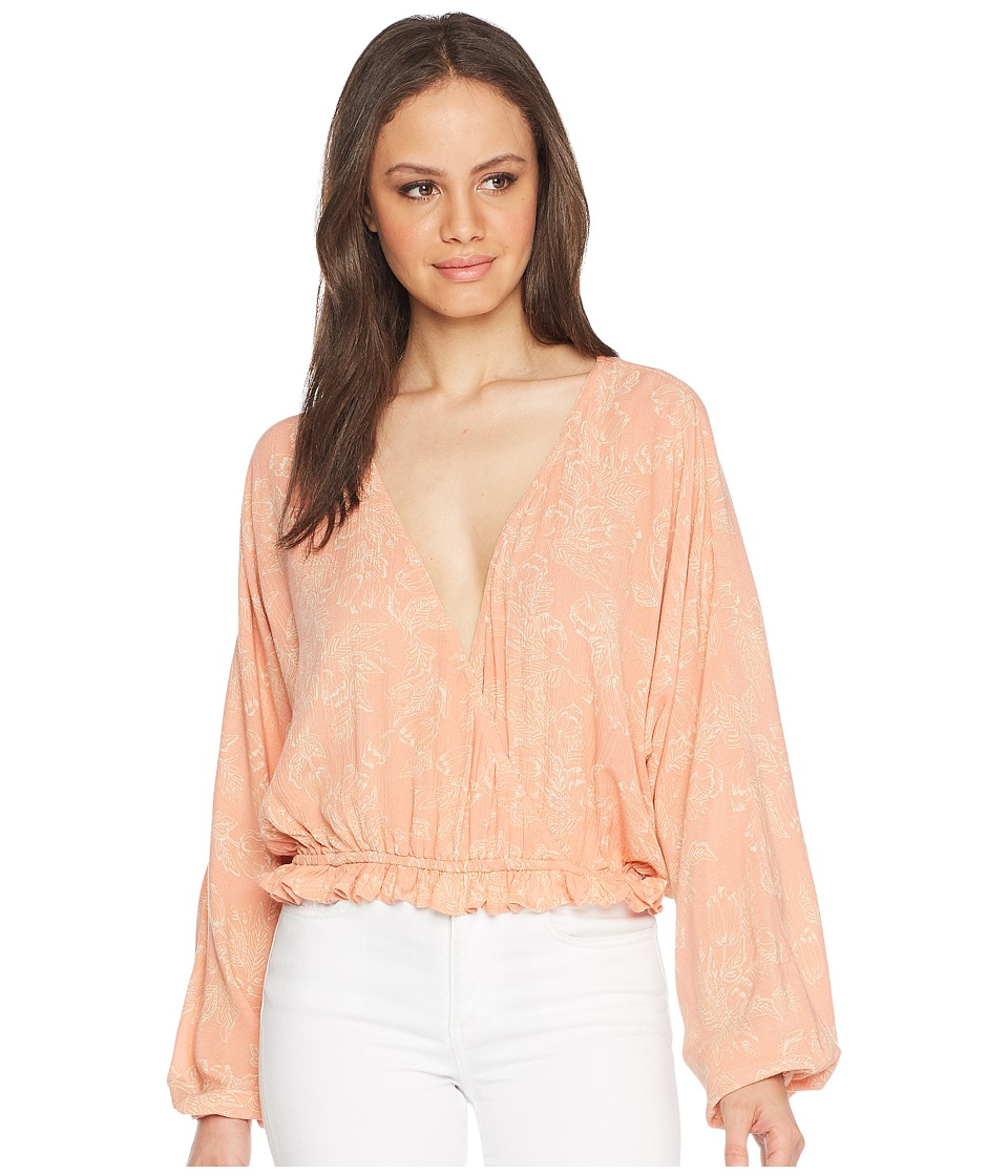 Amuse Society - Idyllic Woven Top (Pink) Womens Clothing