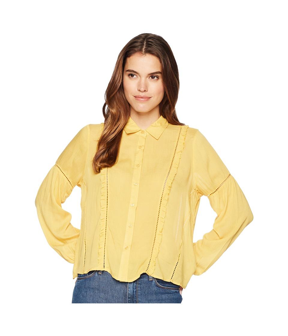 Amuse Society - Landslide Woven Top (Honey) Womens Clothing