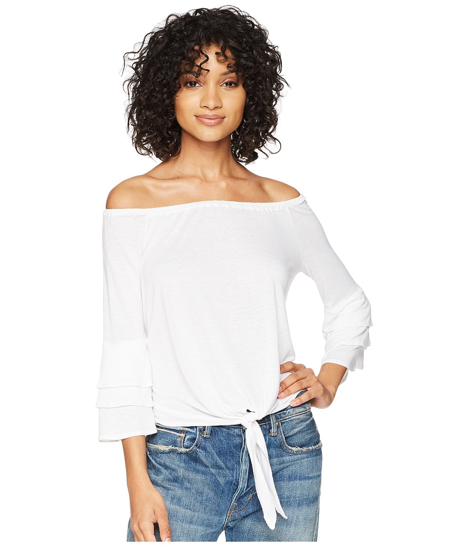 Amuse Society - Bonjour Summer Knit Top (White) Womens Clothing