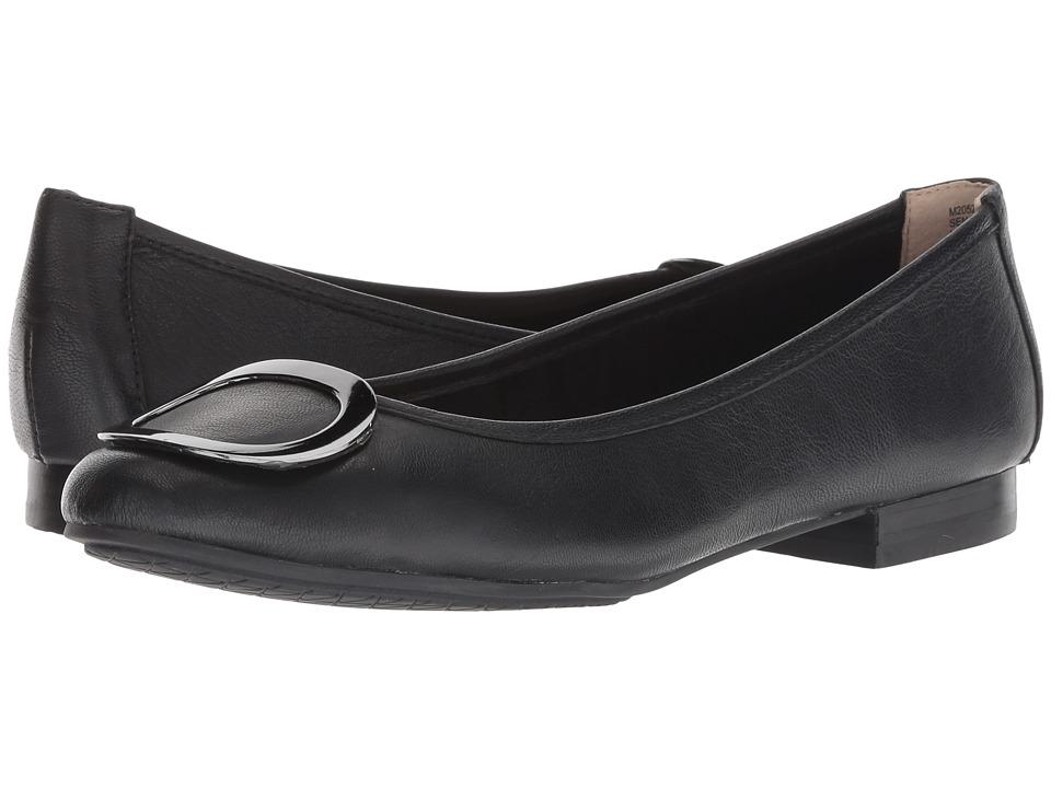 Me Too Sena (Black/Gunmetal Goat Spore Leather) Women's Shoes