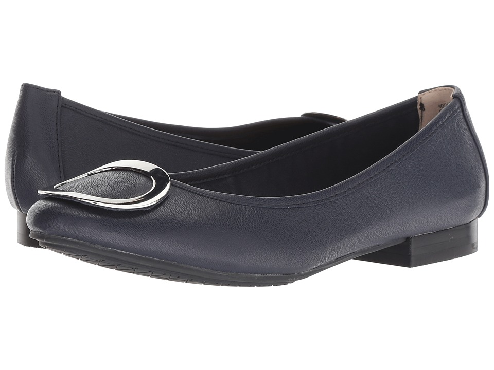 Me Too Sena (Navy/Silver Goat Spore Leather) Women's Shoes