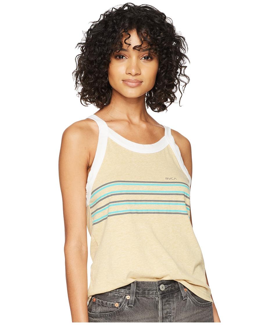 RVCA - Cana Stripe Tank Top (Chai) Womens Sleeveless