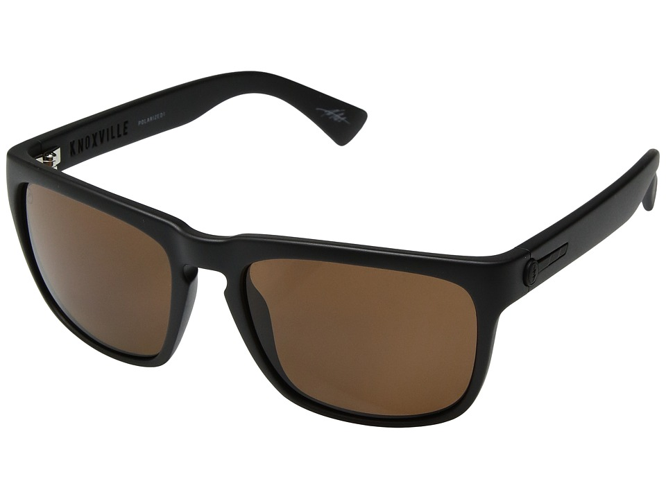 Electric Eyewear - Knoxville Polarized (Matte Black/Ohm Polar Bronze) Athletic Performance Sport Sunglasses