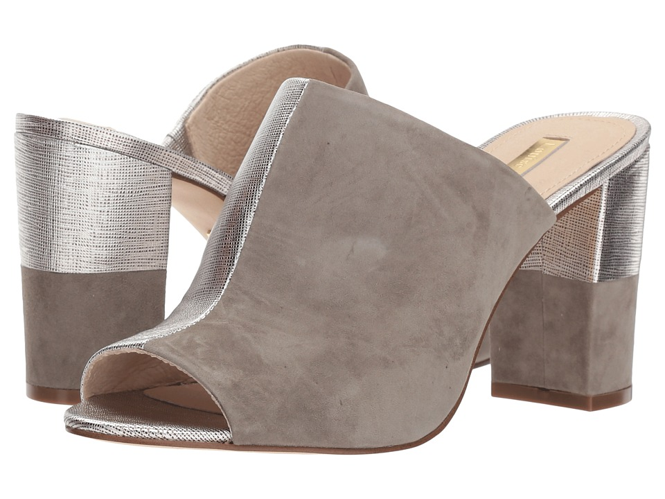 Louise et Cie Kaycee (Sterling/River Salt Washed Metallic Saffiano/Kid Suede) High Heels