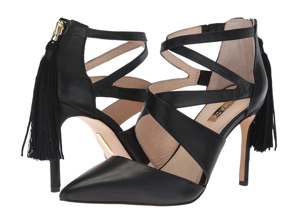 Louise et Cie Jemmy (Black Sofia Calf/Eco Kid Suede Thread) High Heels