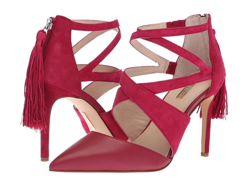 Louise et Cie Jemmy (Boysenberry Smooth Calf/Kid Suede Thread) High Heels
