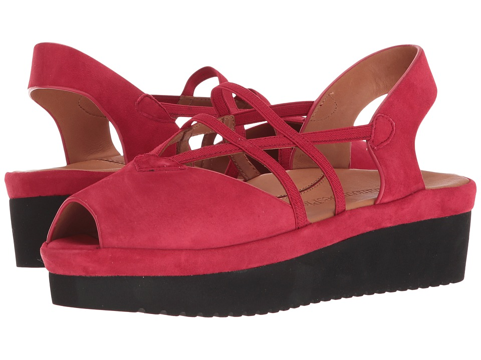 LAmour Des Pieds - Adelais (Red Suede) Womens Sandals