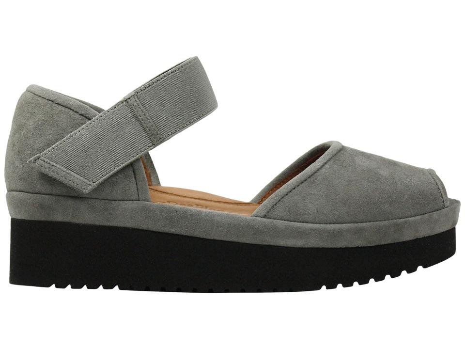 L'Amour Des Pieds Amadour (Gray/Black Suede) Sandals