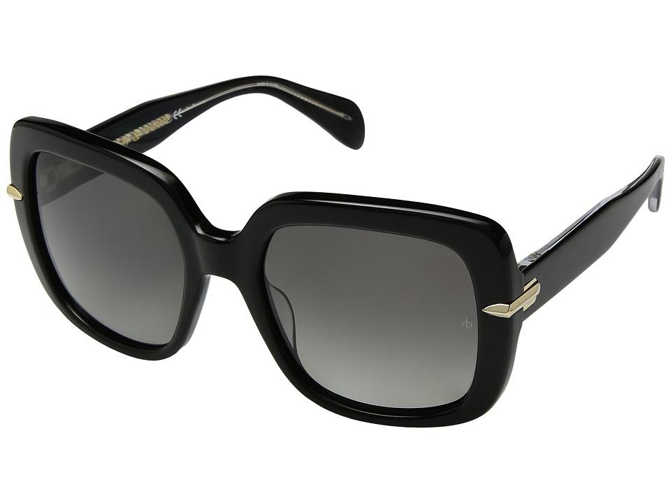 rag & bone - RNB1004/S (Black/Grey Polarized) Fashion Sunglasses