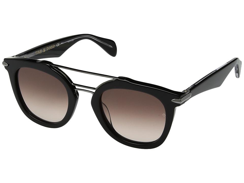 rag & bone - RNB1005/S (Black/Brown Gradient) Fashion Sunglasses