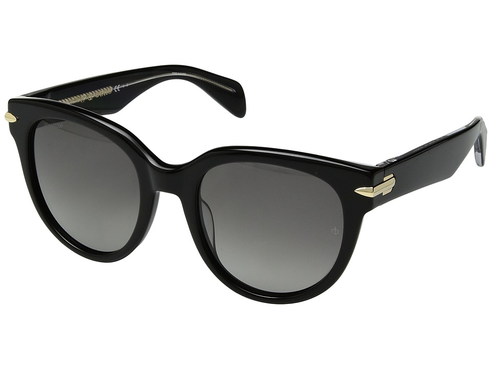 rag & bone - RNB1003/S (Black/Grey Polarized) Fashion Sunglasses