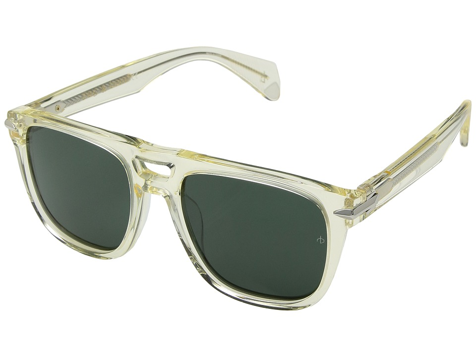 rag & bone - RNB5005/S (Crystal/Green) Fashion Sunglasses