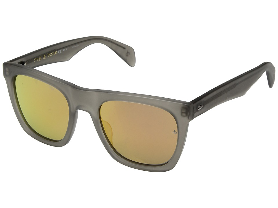 rag & bone - RNB5002/S (Matte Grey/Orange Flash Mirror) Fashion Sunglasses