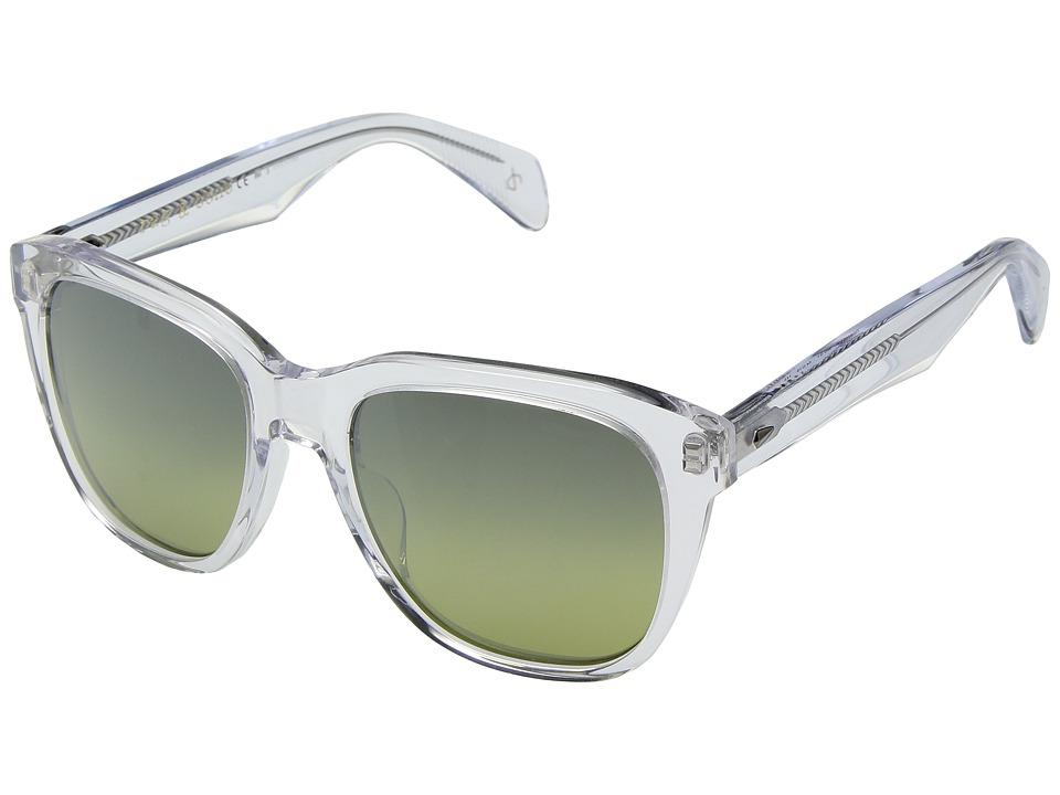 rag & bone - RNB5001/S (Crystal/Brown/Gold Mirror) Fashion Sunglasses