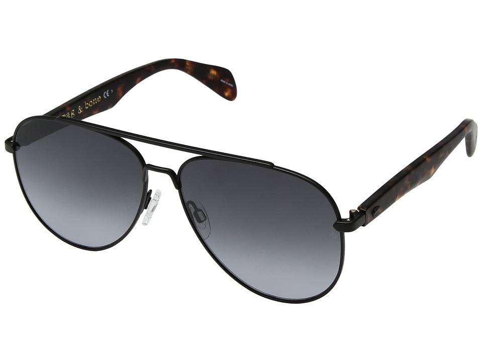 rag & bone - RNB5003/S (Matte Black/Dark Grey Gradient) Fashion Sunglasses