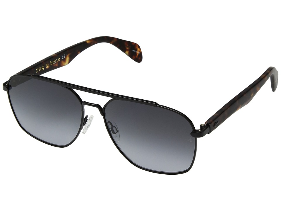rag & bone - RNB5004/S (Matte Black Havana/Dark Grey Gradient) Fashion Sunglasses