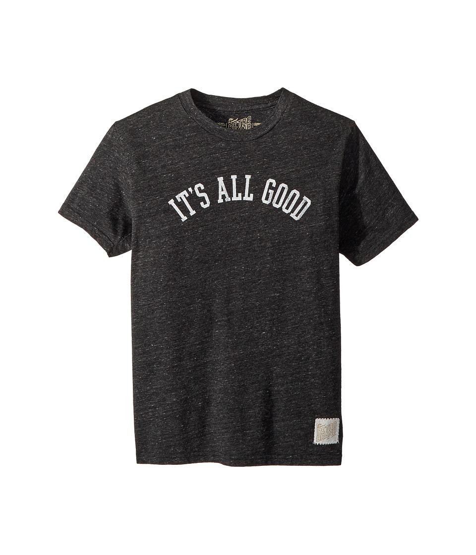 The Original Retro Brand Kids - Its All Good Short Sleeve Tri-Blend Tee (Big Kids) (Streaky Black) Boys T Shirt