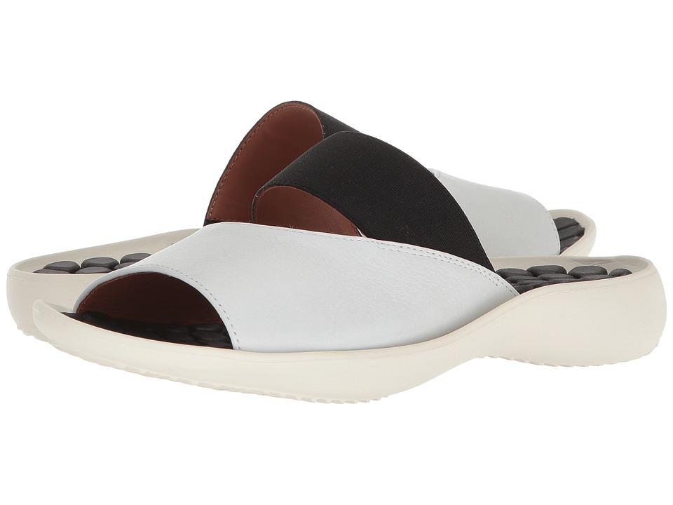 L'Amour Des Pieds Northville (White/Black) Sandals