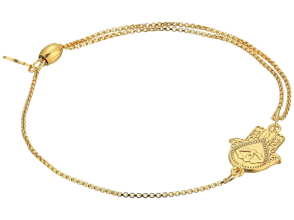 Alex and Ani - Pull Chain Hand of Fatima Bracelet (14KT Gold Plated) Bracelet