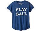 The Original Retro Brand Kids Play Ball Short Sleeve Slub Crew Neck Tee (Big Kids)