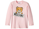 Moschino Kids Long Sleeve Teddy Bear Logo Graphic T-Shirt (Infant/Toddler)