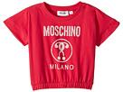 Moschino Kids Short Sleeve Moschino Milano Graphic T-Shirt (Little Kids/Big Kids)
