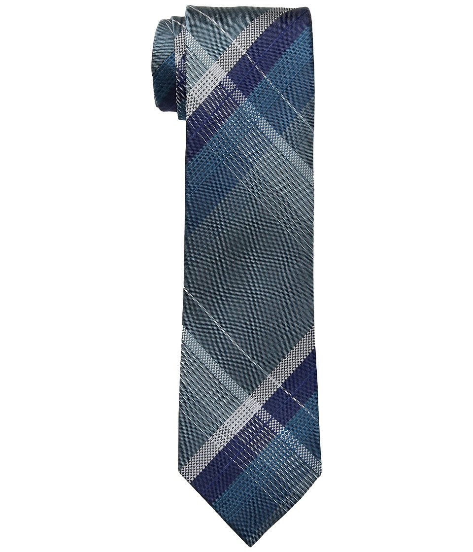Kenneth Cole Reaction - Open Ground Plaid (Teal) Ties